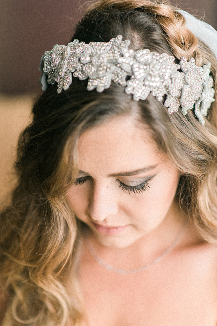 bridal headpieces - photo by Adriana Morais http://ruffledblog.com/two-day-destination-wedding-celebration-in-portugal
