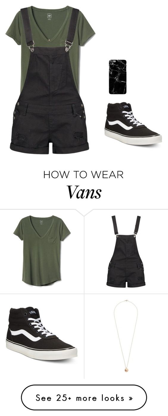 How to Wear Overall with Vans