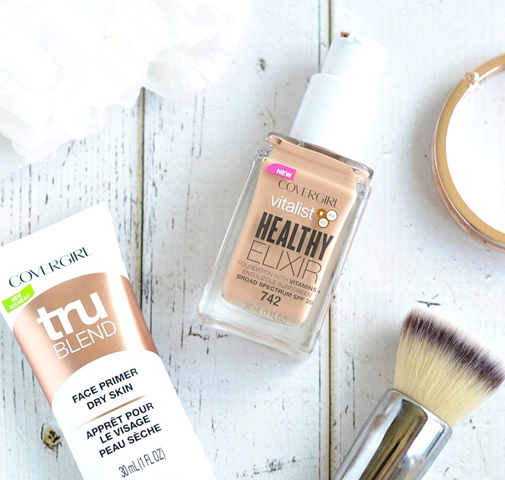 Full coverage drugstore foundation with SPF and skincare benefits | Does the new Covergirl Vitalist Healthy Elixir Foundation live up to its claims? Check out the review now!