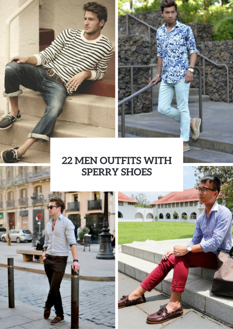 Stylish Men Outfits With Sperry Shoes