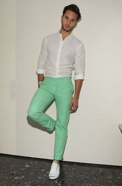 how to wear a mint pant (15)