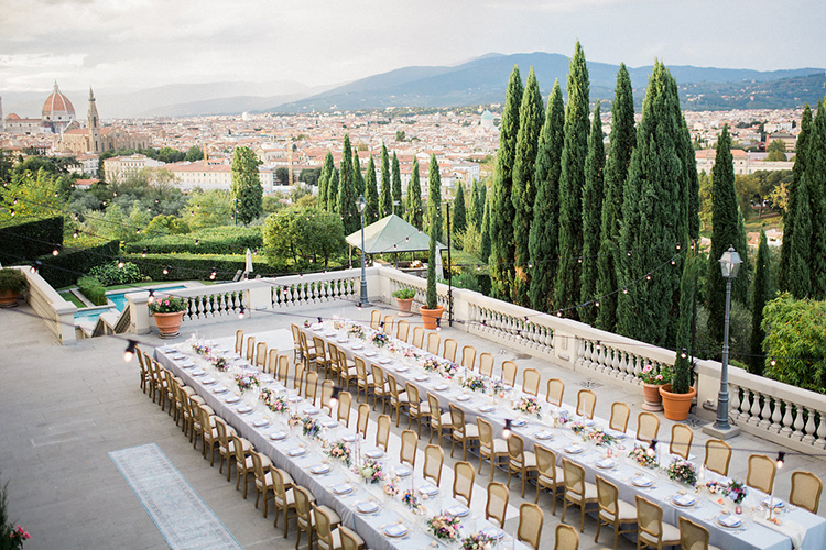 romantic wedding receptions - photo by Booth Photographics http://ruffledblog.com/watercolor-destination-wedding-in-florence