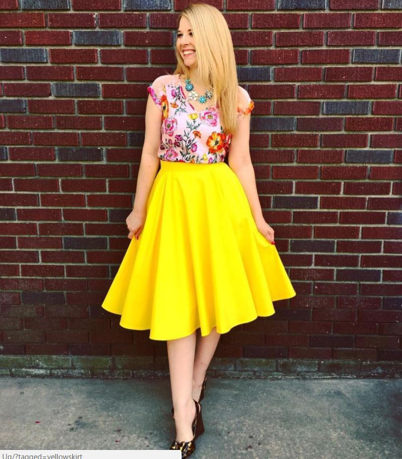 how to wear yellow skirt (20)