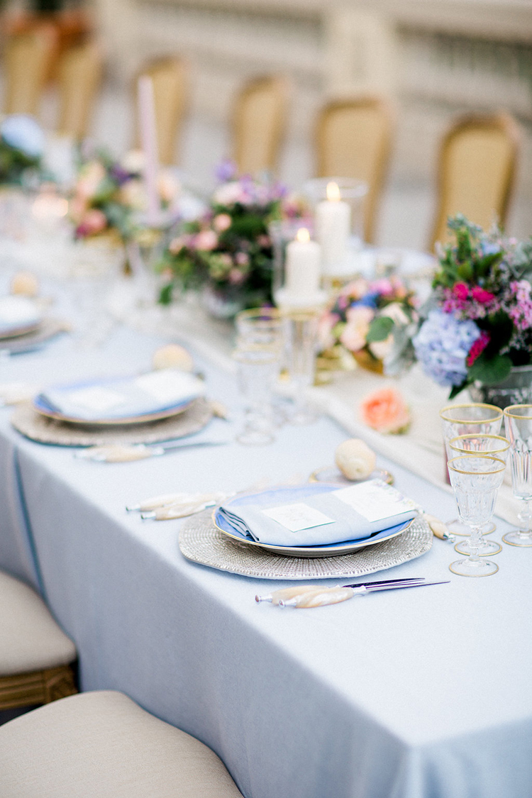 wedding tablescapes - photo by Booth Photographics http://ruffledblog.com/watercolor-destination-wedding-in-florence