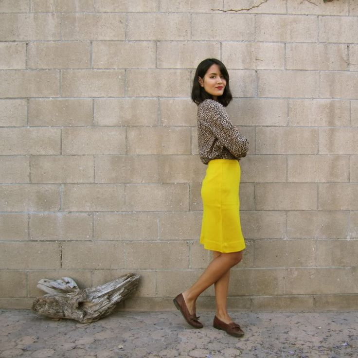 how to wear yellow skirt (6)