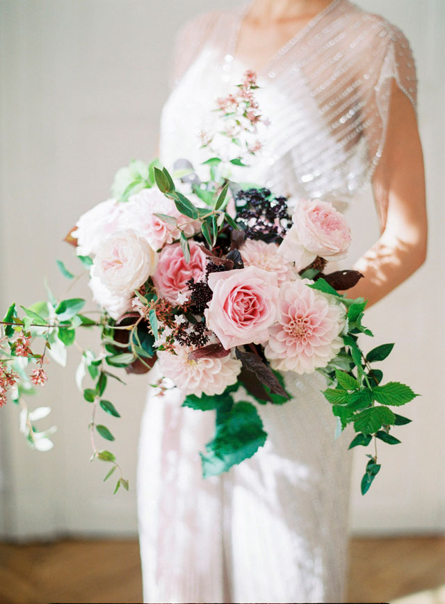 David Austin Rose bouquet | Zosia Zacharia Photography