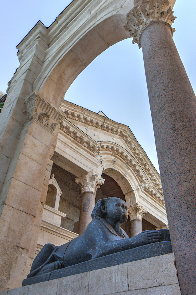 Diocletian sphinx in Split, Croatia