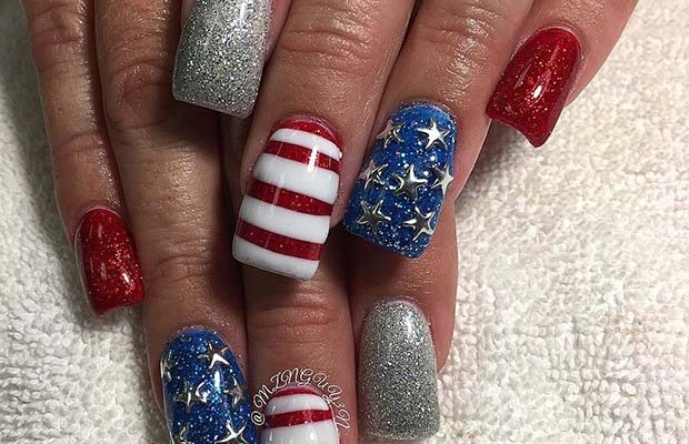 21 Funky And Fun 4th Of July Nail Designs Beauty