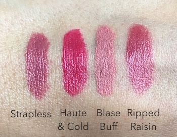 Estee Lauder Pure Color Love Lipsticks swatches