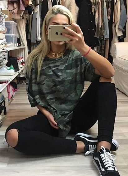Pairing Vans with Camo Tees