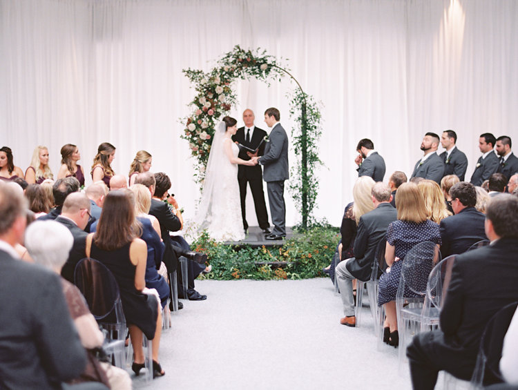 wedding ceremonies - photo by Bethany Erin Photography http://ruffledblog.com/modern-meets-rustic-wedding-in-dallas