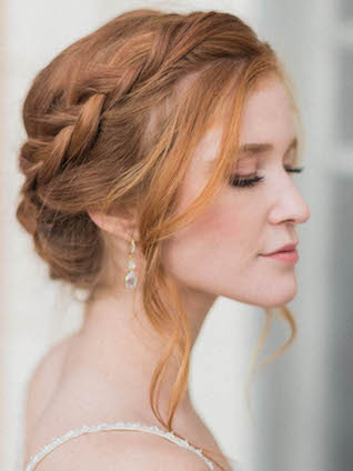 Braided crown hairstyle | Kaylee Sorrells Photography