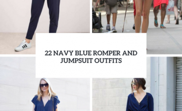 Navy Blue Romper And Jumpsuit Outfits