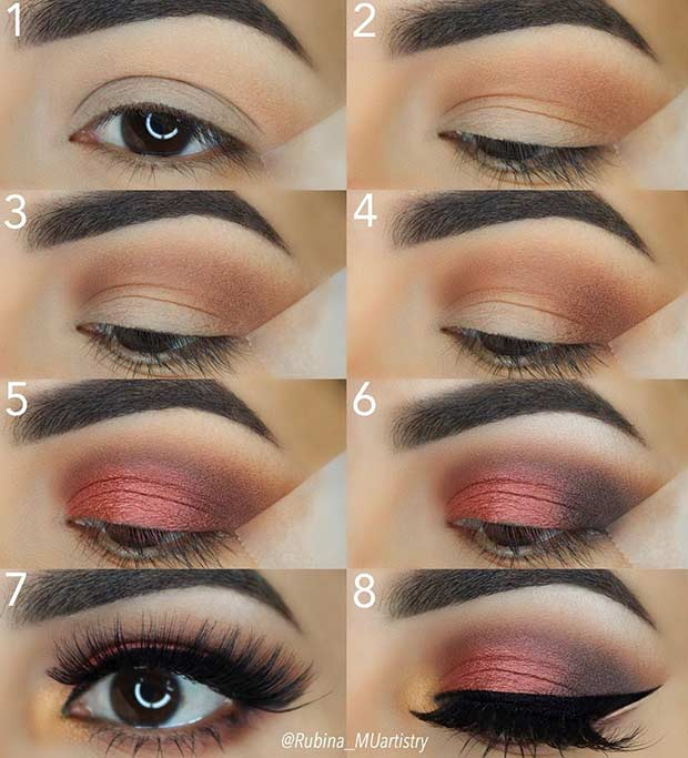 Burgundy Step by Step Makeup Tutorial