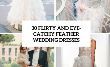 flirty and eye catchy feather wedding dresses cover