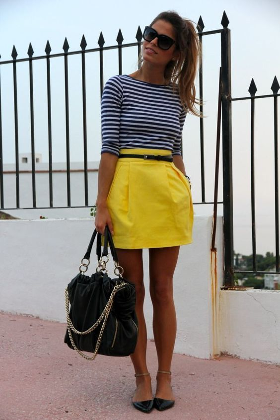 how to wear yellow skirt (26)