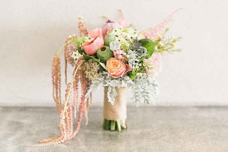 peach bouquets - photo by Adriana Morais http://ruffledblog.com/two-day-destination-wedding-celebration-in-portugal