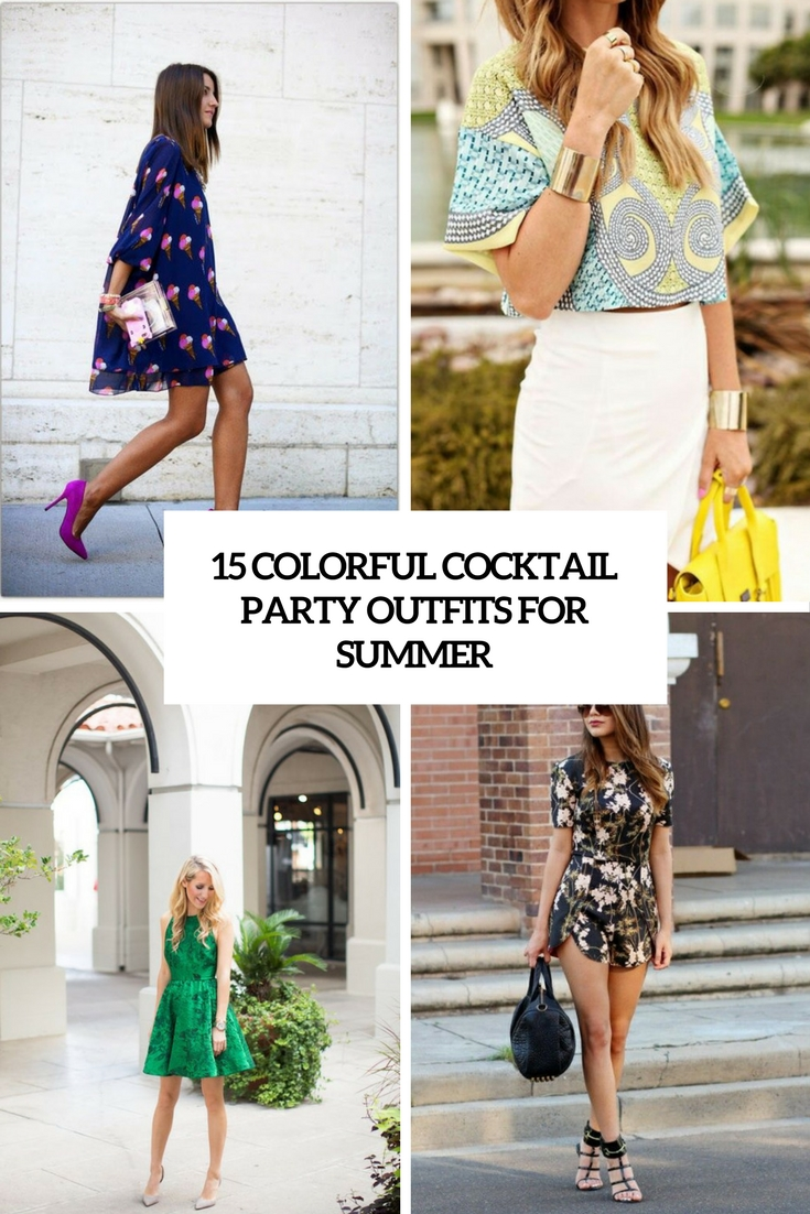 colorful cocktail party outfits for summer cover