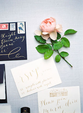 Gold calligraphy | Zosia Zacharia Photography