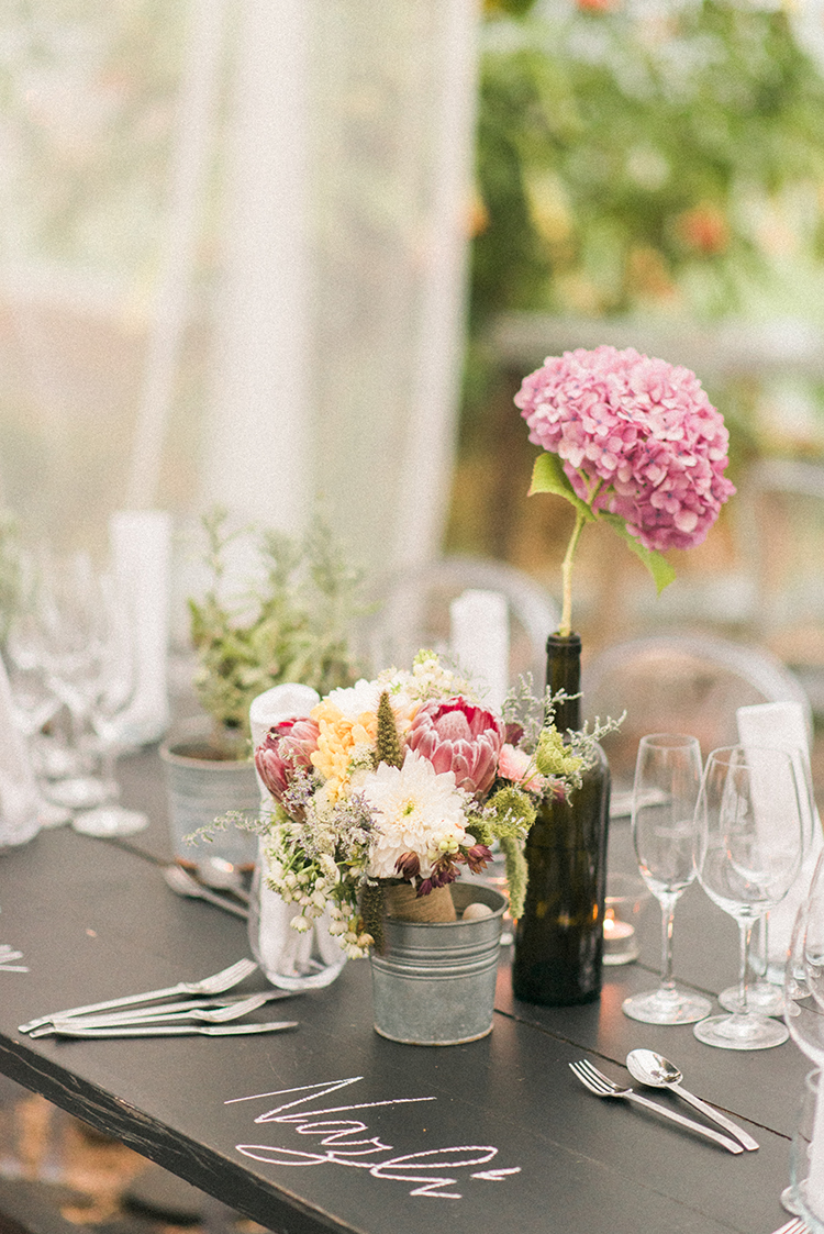 small centerpieces - photo by Adriana Morais http://ruffledblog.com/two-day-destination-wedding-celebration-in-portugal