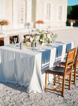 French chateau wedding reception | Zosia Zacharia Photography