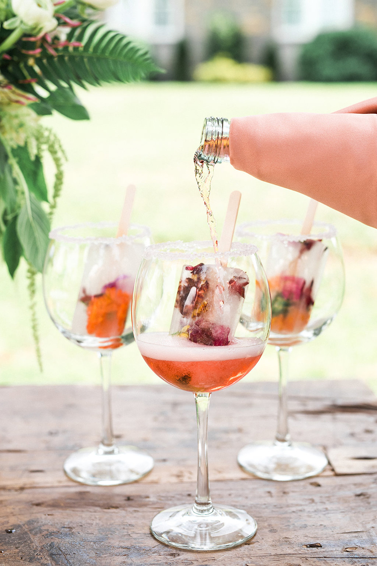 fruit popsicle cocktails - photo by Christy Wilson Photography http://ruffledblog.com/summer-castle-soiree-wedding-inspiration