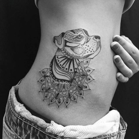 Gorgeous tattoo on the side