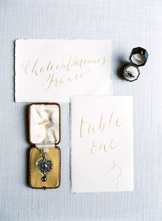 Gold calligraphy table number | Zosia Zacharia Photography
