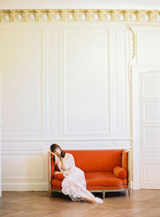 Bridal boudoir session in a French Chateau | Zosia Zacharia Photography