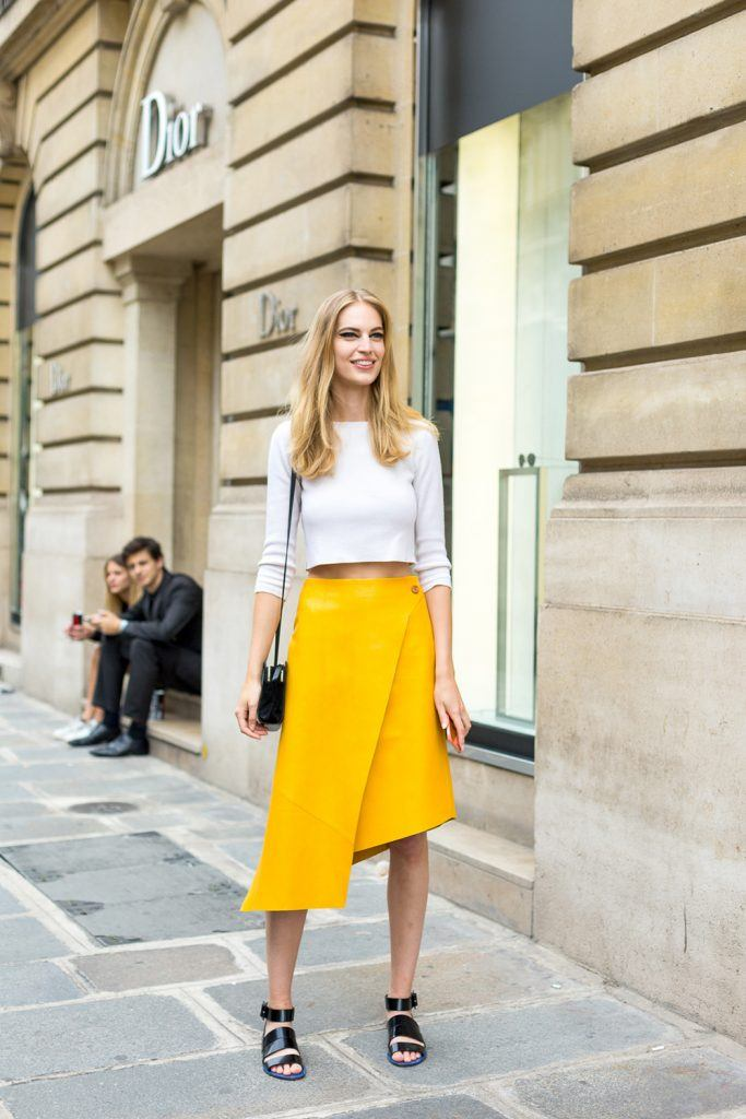 how to wear yellow skirt (9)