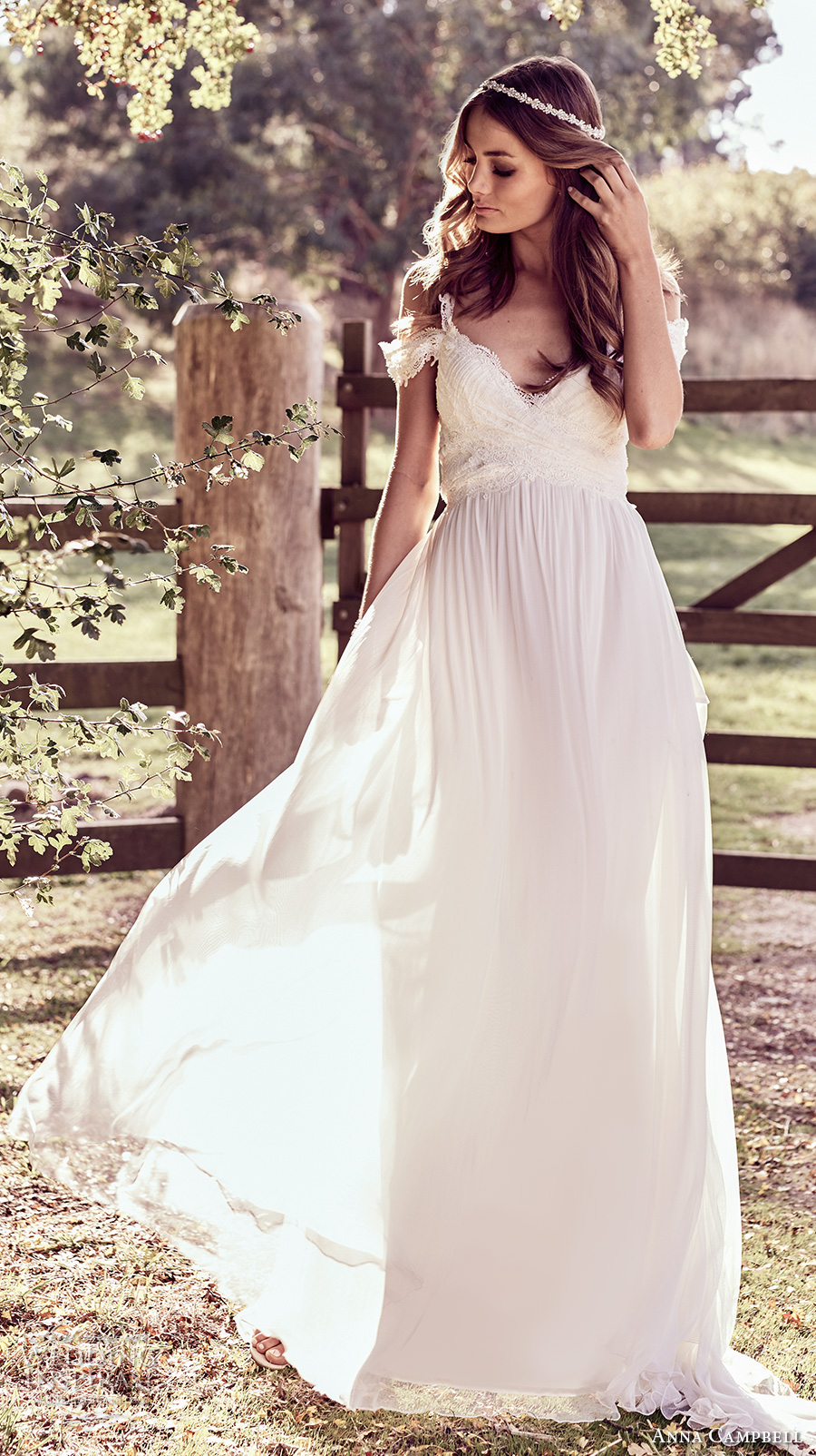 anna campbell 2018 bridal off shoulder with strap sweetheart neckline wrap over bodice soft a line wedding dress open back sweep train (9) mv