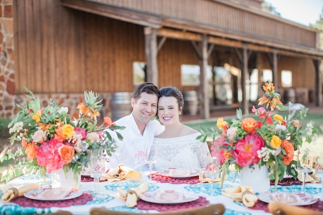 Bright and colorful summer wedding | Nicole Chatham Photography
