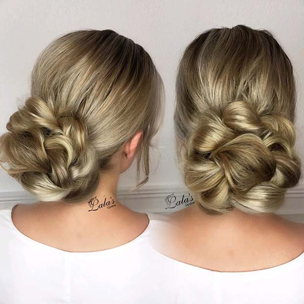 Braided Bun for Bridesmaid Hair Ideas