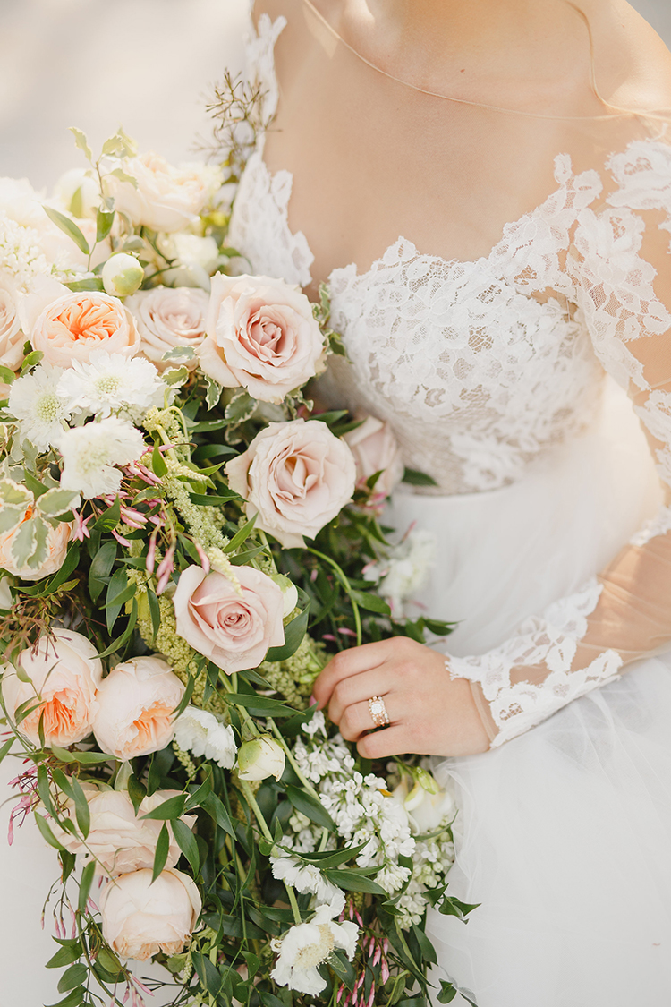 duty rose wedding bouquets - photo by Kristen Booth Photographer http://ruffledblog.com/majestic-castle-wedding-inspiration-with-celestial-accents