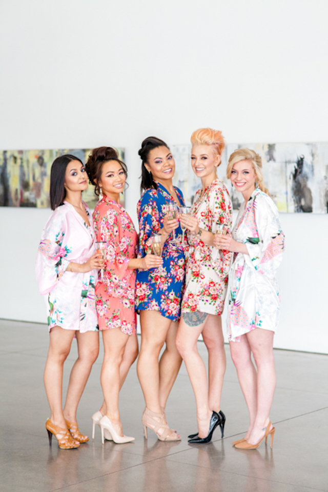 Floral bridesmaids robes | Ashley Kidder Photo