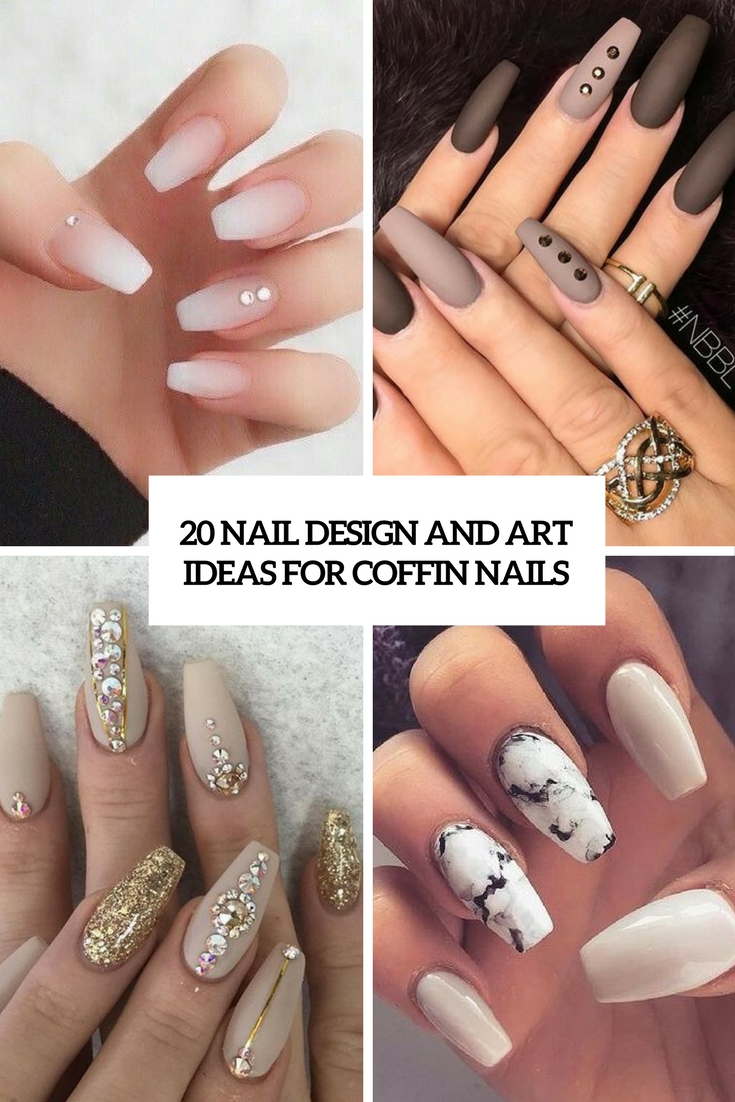 nail design and art ideas for coffin nails cover