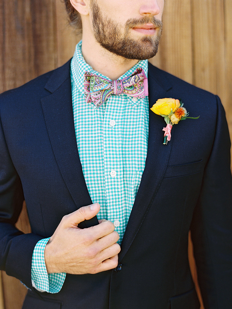 summer groom wedding looks - photo by Charla Storey Photography http://ruffledblog.com/summer-loving-wedding-inspiration-with-a-fiesta-brunch
