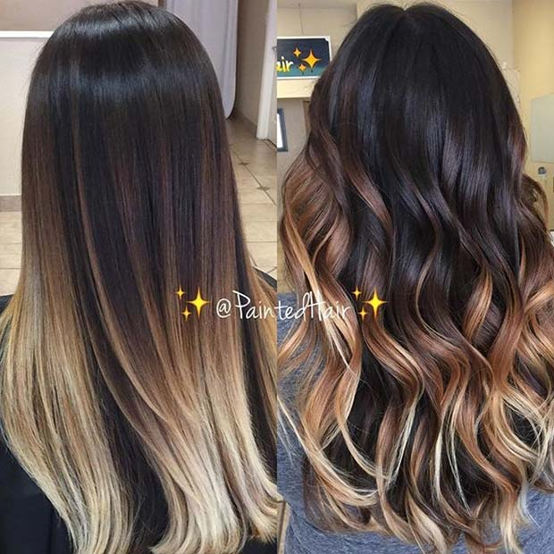 Chocolate Brunette and Blonde Ombre Idea