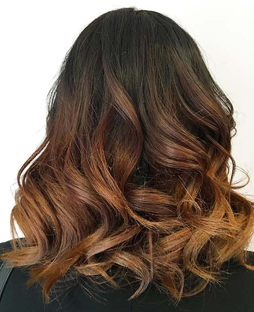 Dark Ombre With Light Brown for Brunettes