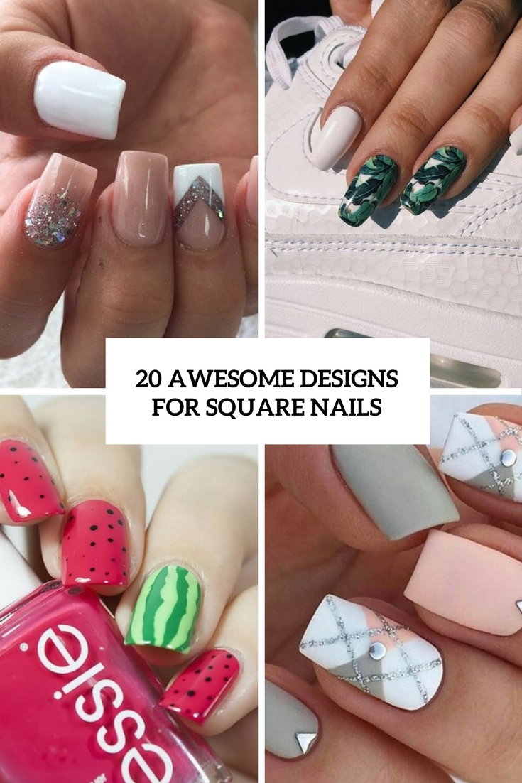 awesome designs for square nails cover