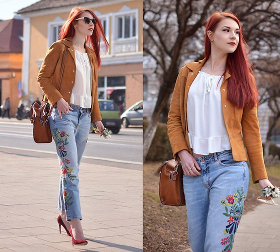 Embroidered Jeans for Girls (18)