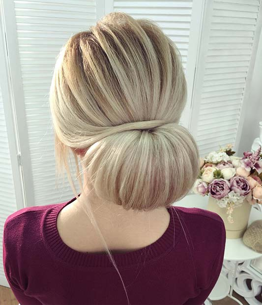 Wrapped Low Bun for Bridesmaid Hair Ideas