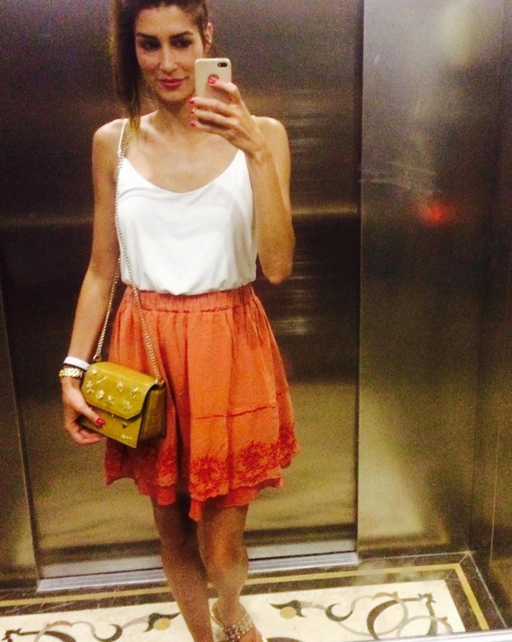 orange skirt outfits (15)
