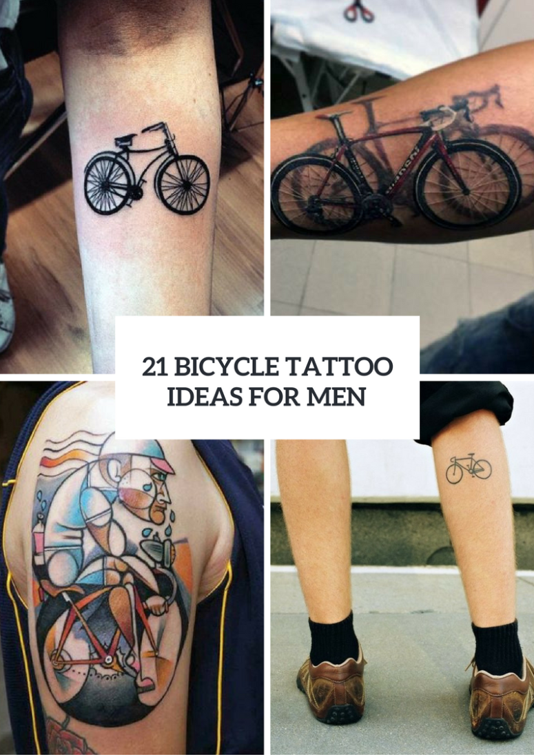 Excellent Bicycle Tattoo Ideas For Men