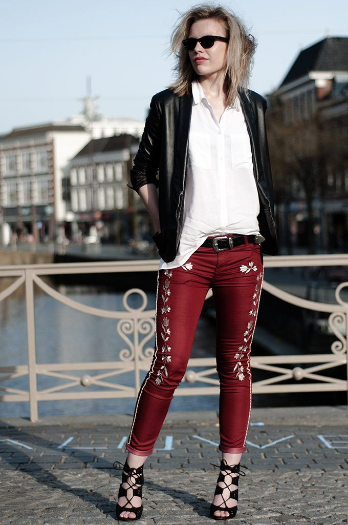 Embroidered Jeans for Girls (27)