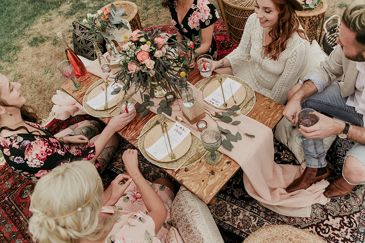boho wedding receptions - photo by Sarah White Photography http://ruffledblog.com/boho-bridal-shower-inspiration-for-your-bride-tribe