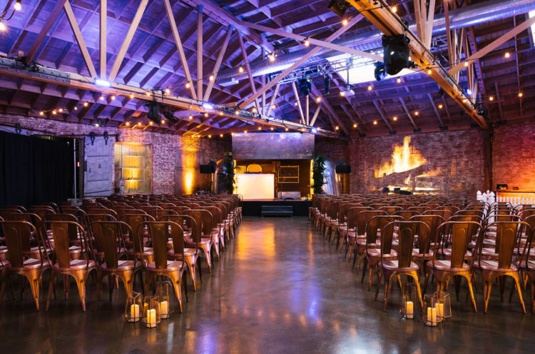 The ceremony space reminded of a concert hall