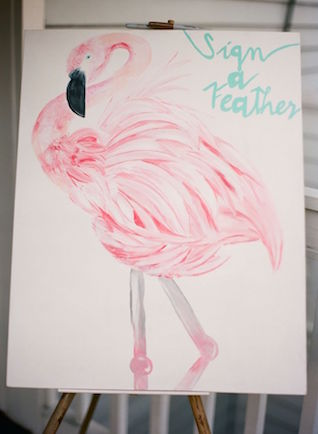 Pink Flamingo wedding ideas | Erika Delgado Photography
