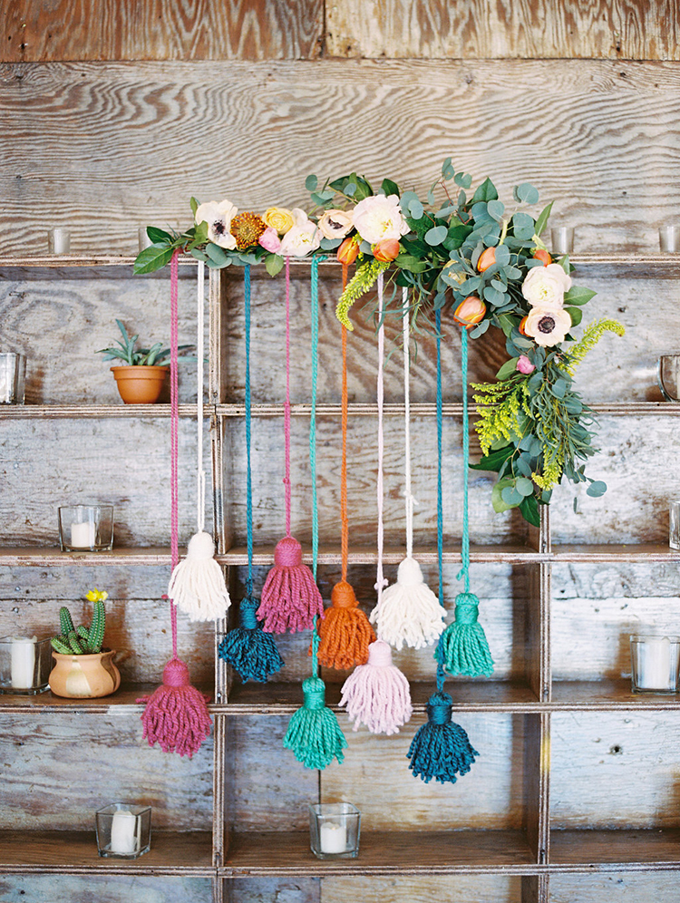 tassel wedding ideas - photo by Charla Storey Photography http://ruffledblog.com/summer-loving-wedding-inspiration-with-a-fiesta-brunch