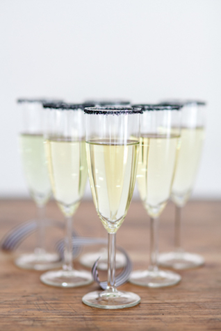 Sugar rimmed Champagne | Ashley Kidder Photo